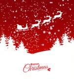 Abstract christmas theme with reindeer sleigh royalty free stock image