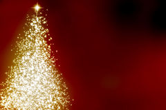 Abstract christmas tree. On a dark red background Stock Photography