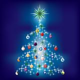 Abstract christmas tree. Layered and grouped illustration for easy editing Royalty Free Stock Images