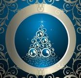 Abstract Christmas tree. Tree event holiday celebration card ball Stock Photos