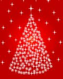 Abstract Christmas tree. Vector abstract Christmas tree on red background Stock Image