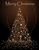 Abstract christmas tree. Illustration tree star fir card background Royalty Free Stock Image