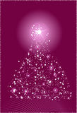 Abstract christmas tree. In violet color Royalty Free Stock Photos