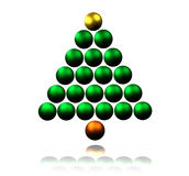 Abstract Christmas Tree. Made of Shiny Baubles Royalty Free Stock Image
