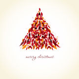 Abstract christmas tree. Royalty Free Stock Images