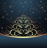 Abstract christmas tree. Celebration card with abstract christmas floral tree - vector Stock Photo