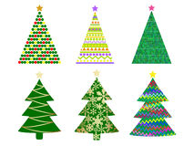 Abstract christmas tree. Set,vector  illustration Stock Photos