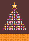 Abstract Christmas tree. Royalty Free Stock Photos
