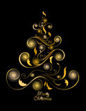 Abstract Christmas tree Royalty Free Stock Photos