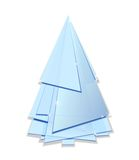 Abstract Christmas tree. Abstract blue Christmas tree isoleted on white Royalty Free Stock Photo