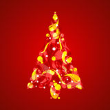 Abstract Christmas Tree Royalty Free Stock Images