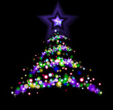 Abstract christmas tree. The illustration contains the image of abstract christmas tree Royalty Free Stock Photography