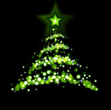 Abstract christmas tree. The illustration contains the image of abstract christmas tree Royalty Free Stock Image