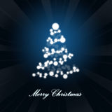 Abstract christmas tree. Abstract christmas tree on abstract background Royalty Free Stock Photos