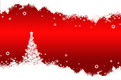 Abstract christmas tree. Abstract christmas tree on red background Stock Photo