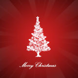 Abstract christmas tree. Abstract christmas tree on abstract background Stock Photos