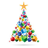 Abstract Christmas tree Stock Photo