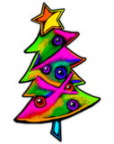 Abstract Christmas Tree. A colorful illustration of an abstract holiday tree vector illustration
