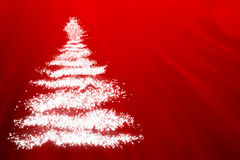 Abstract Christmas tree. In white lights Stock Image