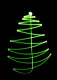 Abstract christmas tree. On black background Stock Image