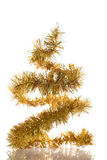 Abstract Christmas tree. Abstract yellow christmas tree on white background with reflaction Stock Images