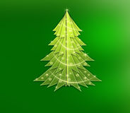 Abstract Christmas tree. Abstraction to be used for web page Royalty Free Stock Images