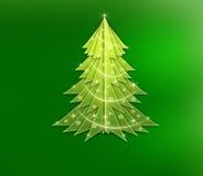 Abstract Christmas tree stock illustration
