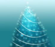 Abstract Christmas tree. Abstraction to be used for web page Stock Photo
