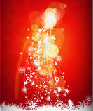 Abstract christmas tree background Stock Image
