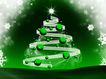 Abstract christmas tree background Royalty Free Stock Photography