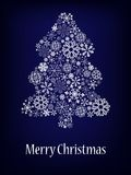 Abstract christmas tree background. Royalty Free Stock Image