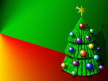 Abstract Christmas Tree Background-3d Royalty Free Stock Photos