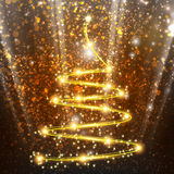 Abstract Christmas tree on the background bokeh Stock Photography
