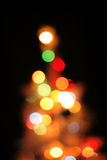 Abstract christmas tree background (color lights) Stock Photos