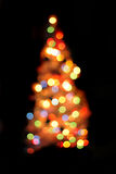 Abstract christmas tree background (color lights) Royalty Free Stock Photo