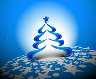 Abstract christmas tree background. Design, vector illustration Royalty Free Stock Photography