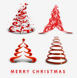 Abstract christmas tree background. Design, vector illustration Royalty Free Stock Photos