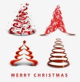 Abstract christmas tree background. Design, vector illustration stock illustration