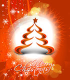 Abstract christmas tree background. Design, vector illustration Stock Photos