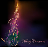 Abstract Christmas tree background Royalty Free Stock Photo