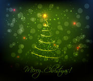 Abstract Christmas tree background Stock Images
