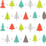 Abstract Christmas tree background. Vector. Royalty Free Stock Photography