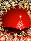 Abstract christmas tree backgroundnd Royalty Free Stock Photos