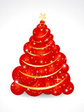 Abstract christmas tree of balls Royalty Free Stock Photos