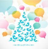 Abstract  Christmas tree  of birds Royalty Free Stock Photo