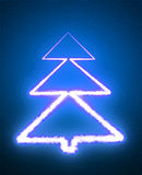 Abstract Christmas tree. On the blue background Stock Photos