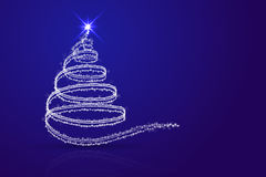 Abstract christmas tree blue background. Stock Photography