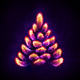 Abstract Christmas tree built of stars Royalty Free Stock Photography