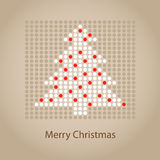 Abstract christmas tree card Stock Photos
