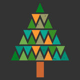 Abstract Christmas tree card Royalty Free Stock Image